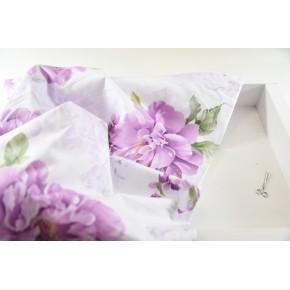 """0240 Хлопок Сатин 100% """"Крупные фиолетовые цветы"""""""