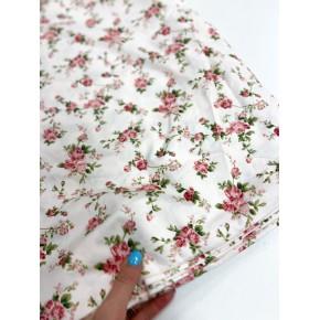 """1191 Хлопок Сатин 100% 160 см """"Цветы в стиле """"Прованс"""" на бледно - розовом"""""""