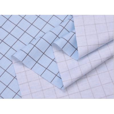 """0601 Хлопок Сатин 100% 160 см """"Клетка на голубом"""""""