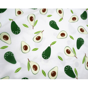 "9999 Хлопок Сатин 100% ""Авокадо на светлом"""