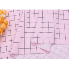 """0063 Хлопок Сатин 100% 160 см """"Клеточка на нежно- розовом """""""