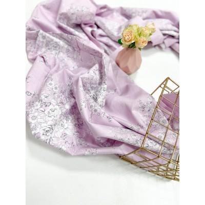 0245  Хлопок Сатин 100% «Лиловые соцветия»