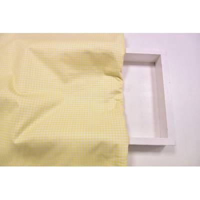 """0464  Хлопок Сатин 100% 160 см """"Клетка на желтом"""""""