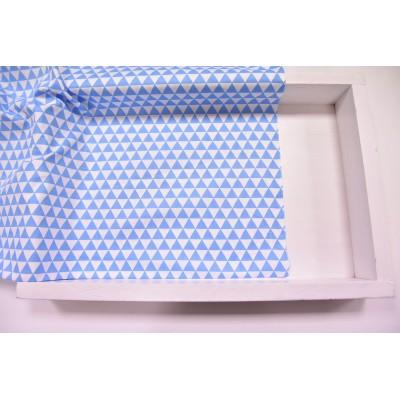 """0018 Хлопок Сатин 100% 160 см """"Голубые треугольники"""""""