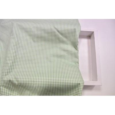 """0464  Хлопок Сатин 100% 160 см """"Клетка на зелени"""""""