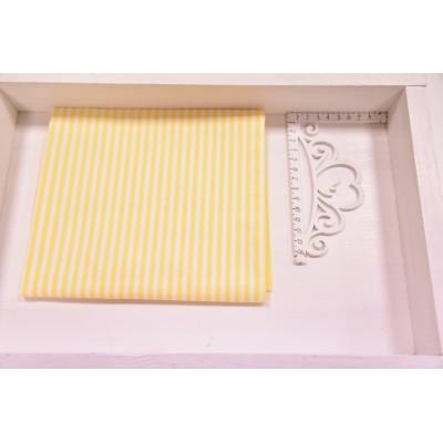 """0024 хлопок Сатин 100 % 160 см """"Желтая полоска  4 мм"""""""