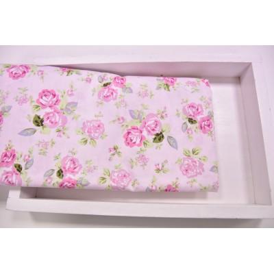 """0436 Хлопок Сатин 100% 160 см """"Цветочки на нежно-розовом"""""""