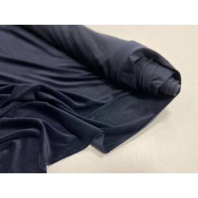 """Хлопково- Плюшевый Велюр 80% хл. 20 пэ. 160-175 см """" Темная ночь ( сине- черный)  """""""