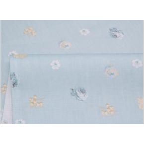 """0235 """"Мелкие розы на пыльно - голубом """""""