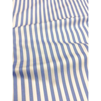 0160 Хлопок Сатин 100% Полоска синяя средняя