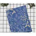 5555 Хлопок Сатин 100% Ветви солнечные на синем