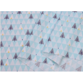 """0120 Хлопок Сатин 100 % 160 см """"Треугольные ели на небесном"""""""