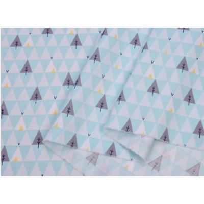 Хлопок Сатин 100 % Цветные точки на голубом