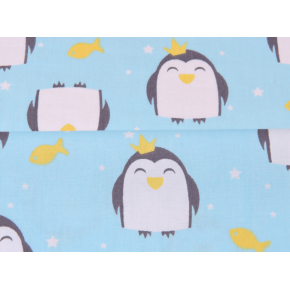 """0602 Хлопок Сатин 100% """"Мини пингвинята"""""""