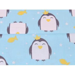 "0221 Хлопок Сатин 100% 160 см ""Мини пингвинята"""