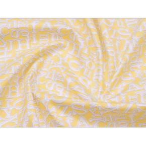 """0017 Хлопок Сатин 100 % """"Алфавит на лимонном"""""""