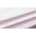 Хлопок Сатин 100 % Розово-белые точки на нежном