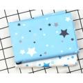 """212 Хлопок Сатин 100% """"Голубые звезды на белом """""""