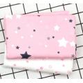 Хлопок Сатин 100% Мелкие светлые звезды на розовом