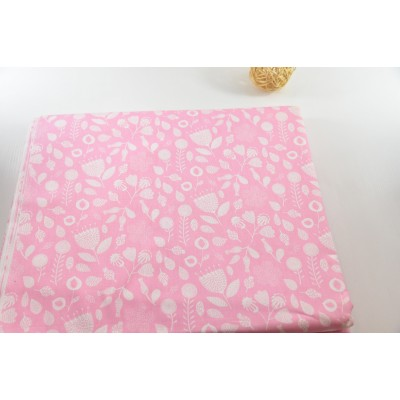 0634 Хлопок Сатин 100% Маракуйя на розовом