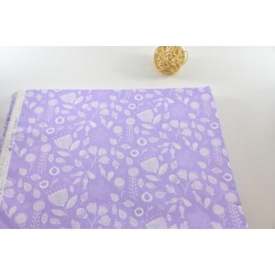 0638 Хлопок Сатин 100% Маракуйя на фиолетовом