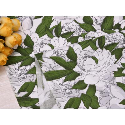"""9999 Хлопок Сатин 100% """"Цветы в зелени"""""""