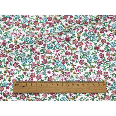 """0448 Хлопок Сатин 100% 160 см """"Лазурно-лиловые соцветия"""""""