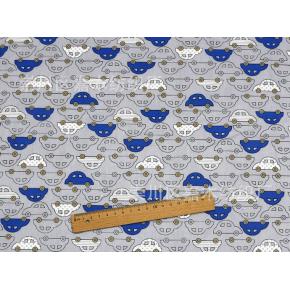 """9999 Хлопок Сатин 100% """"Синяя машинка"""""""