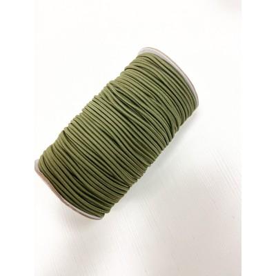 005 Резинка Шляпная  Яркий Хаки  3 мм